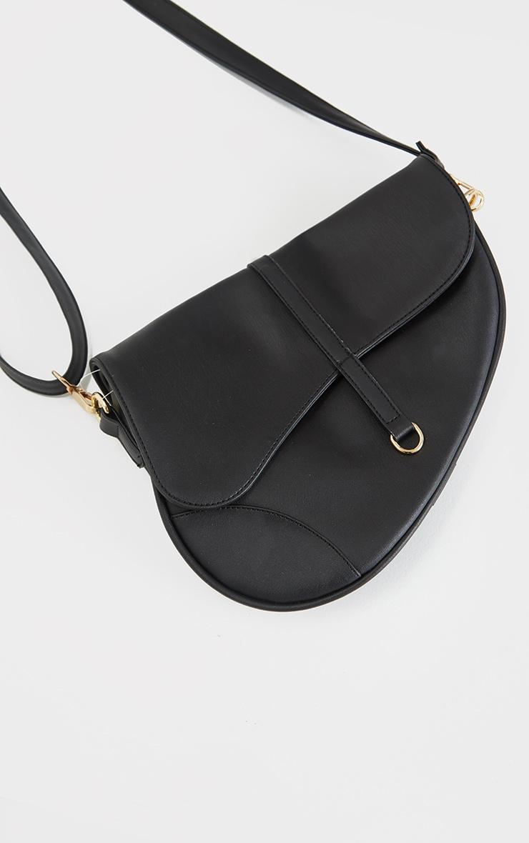 Black Saddle Cross Body Bag 1