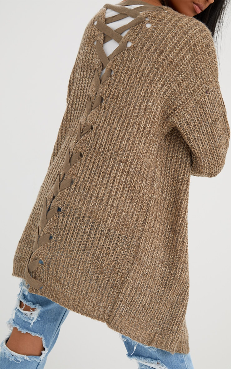 Stone Lace Tie Back Cardigan 5