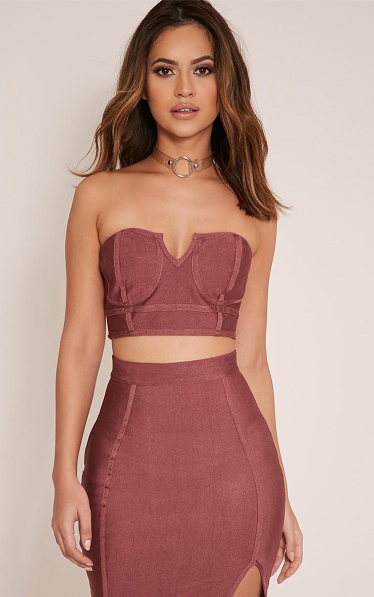 Caitlyn brassière bandeau rose élastique Premium 1