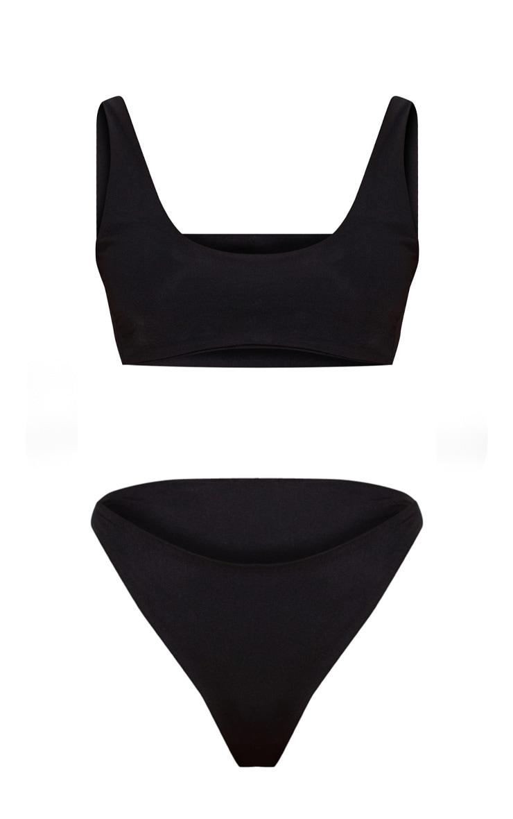Ensemble de bikini noir échancré 2 pièces 3