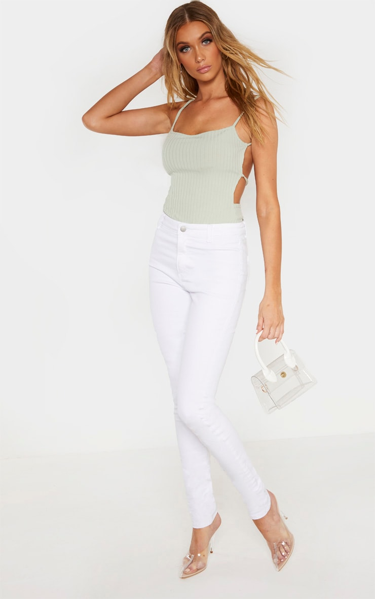Tall White Super Stretch Skinny Jeans 1