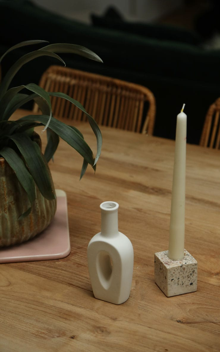 White Small Cut Out Vase 2