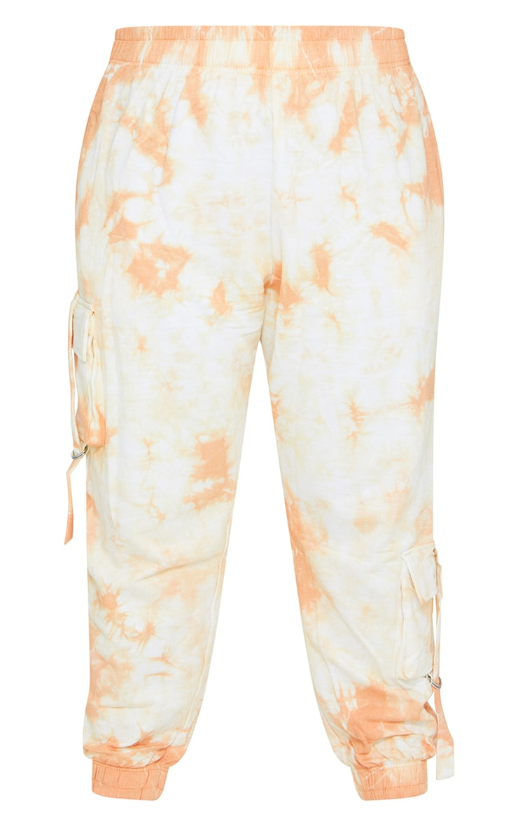 Plus Peach Tie Dye Cargo Jogger 5
