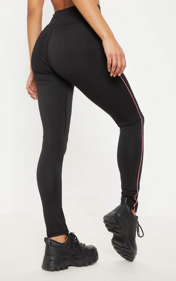 Black Contrast Piping Legging 4