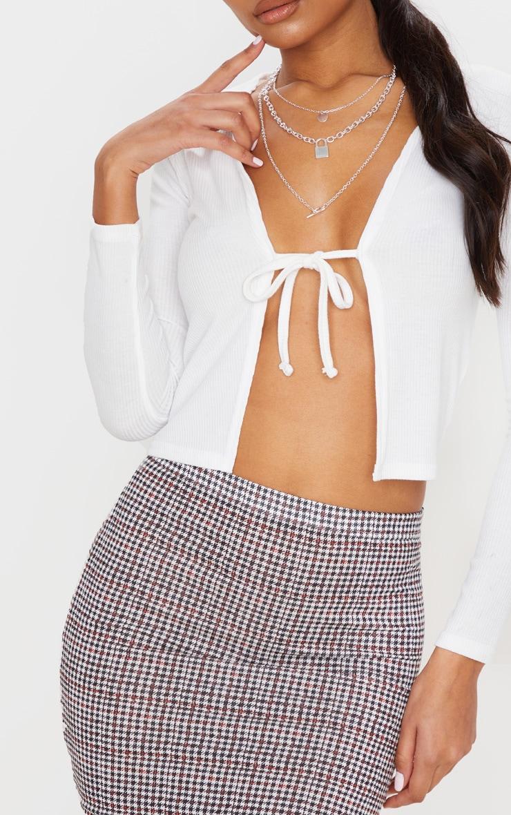 Mini-jupe rouille à carreaux 6