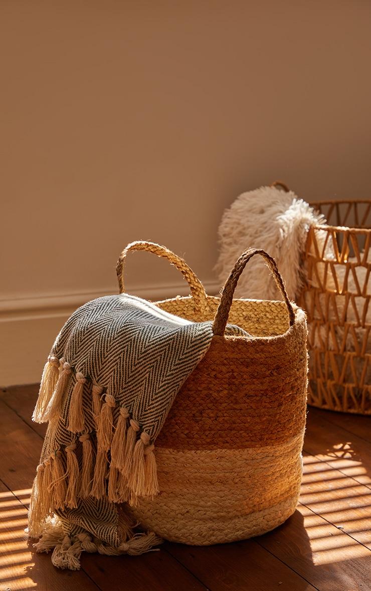 Natural Round Woven Basket 1
