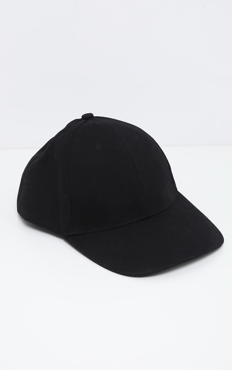 Black Plain Baseball Cap 2