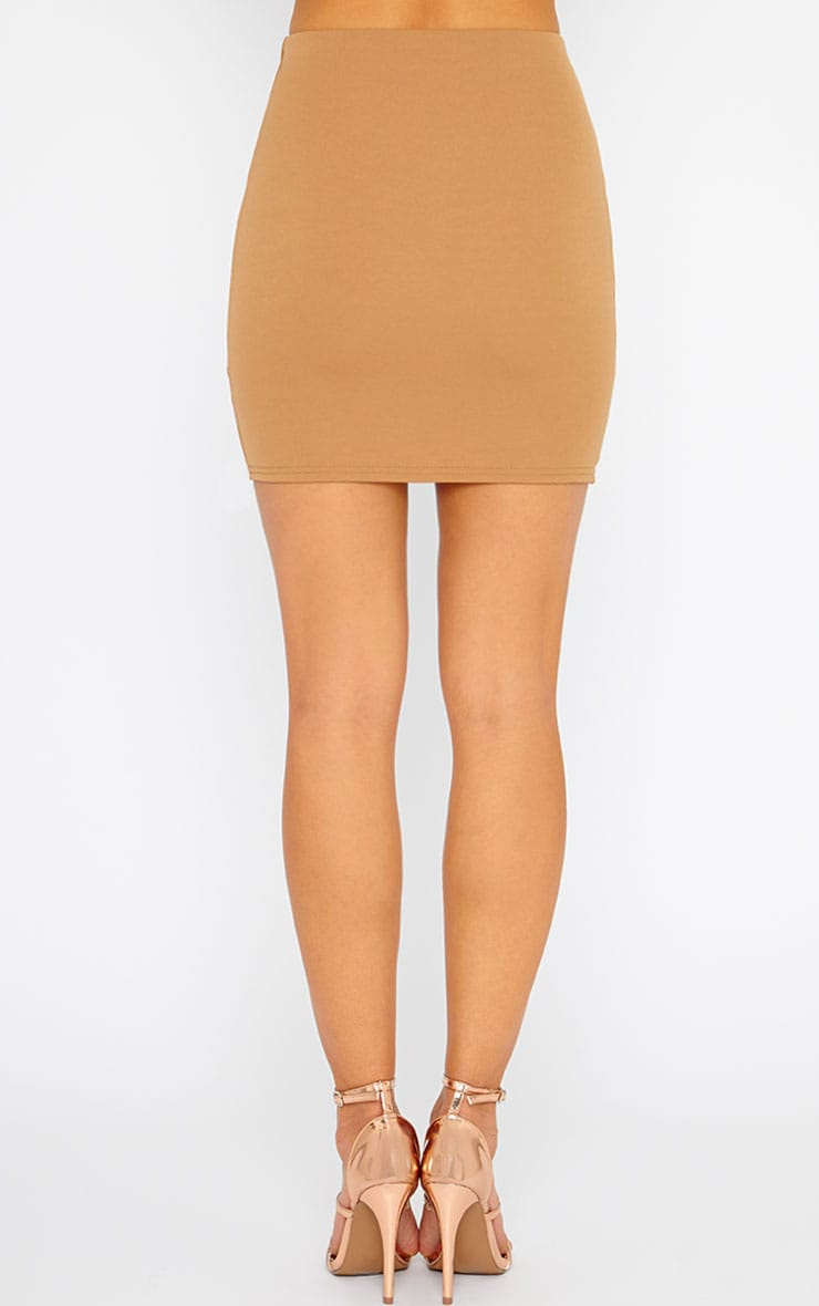 Basic Camel Scuba Mini Skirt 4