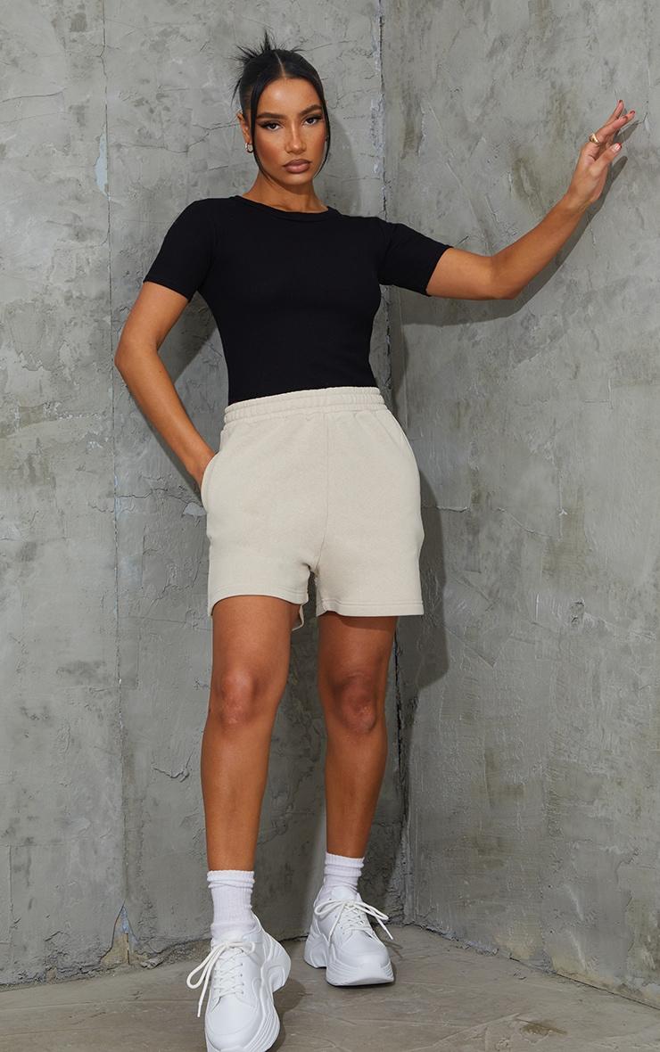 Black Waffle Knit Short Sleeve Bodysuit 3