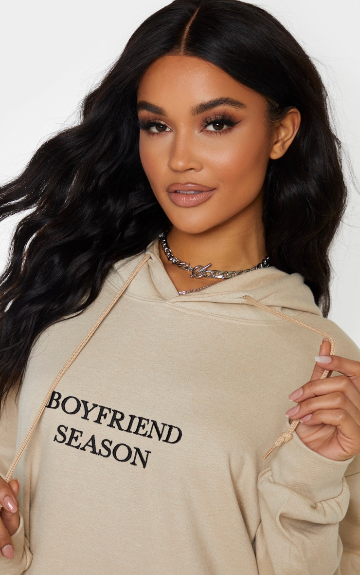 Sand Boyfriend Season Embroidered Hoodie 5