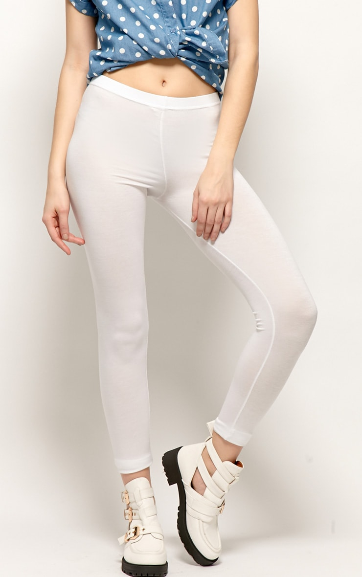 Sofie White Jersey Leggings 3