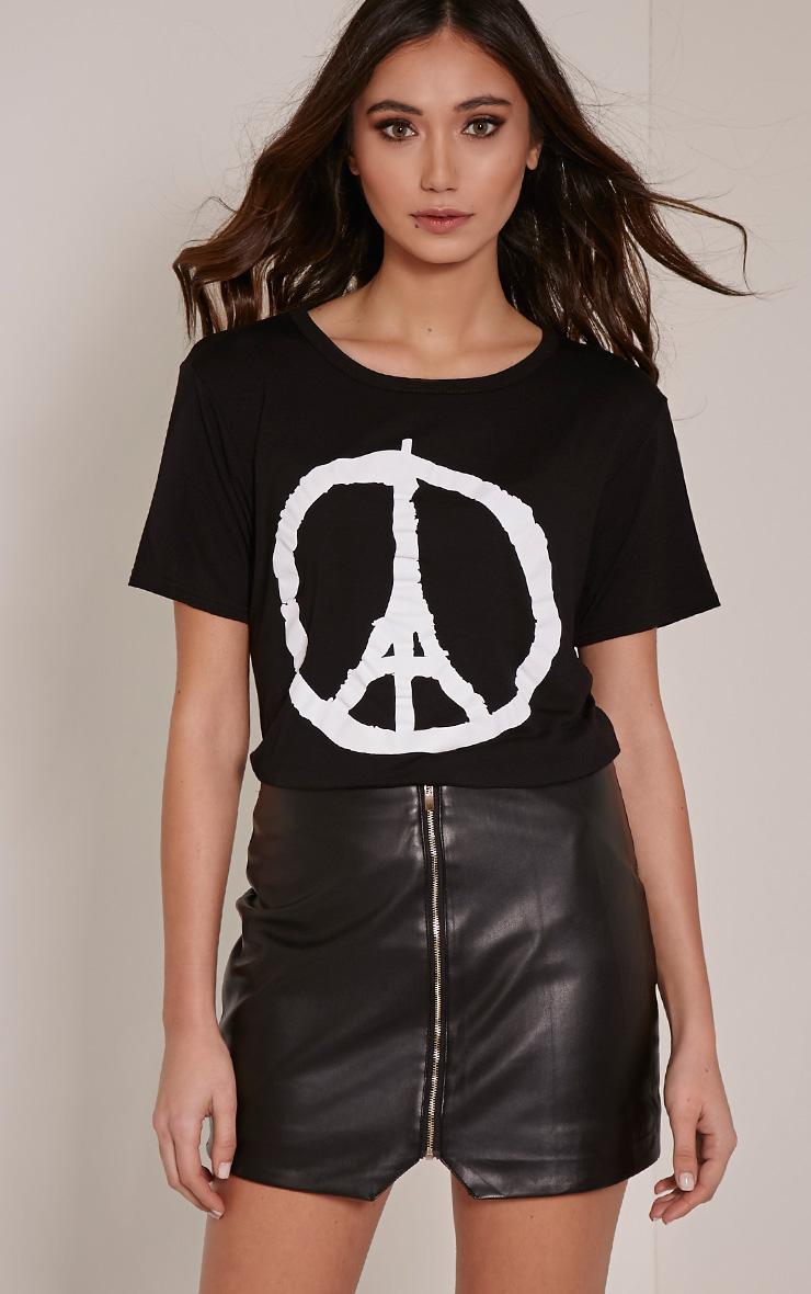 Paris Black Peace T-Shirt 3