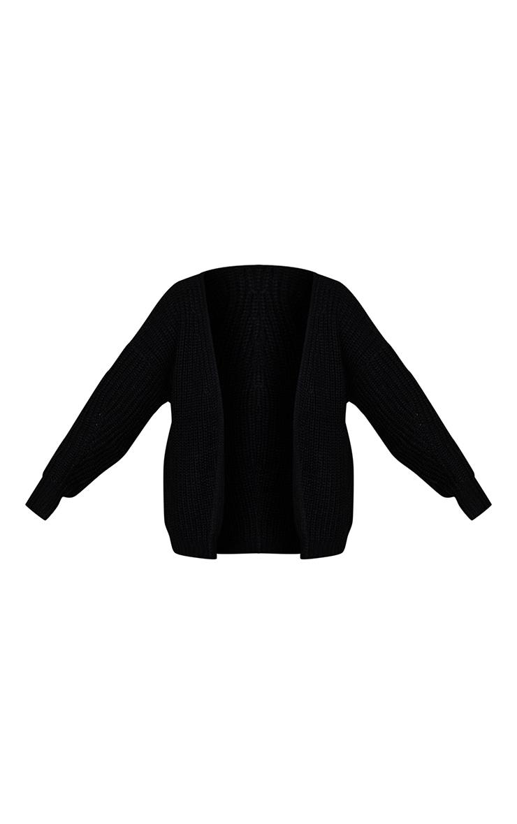 Black Chunky Knit Slouchy Cardigan 5