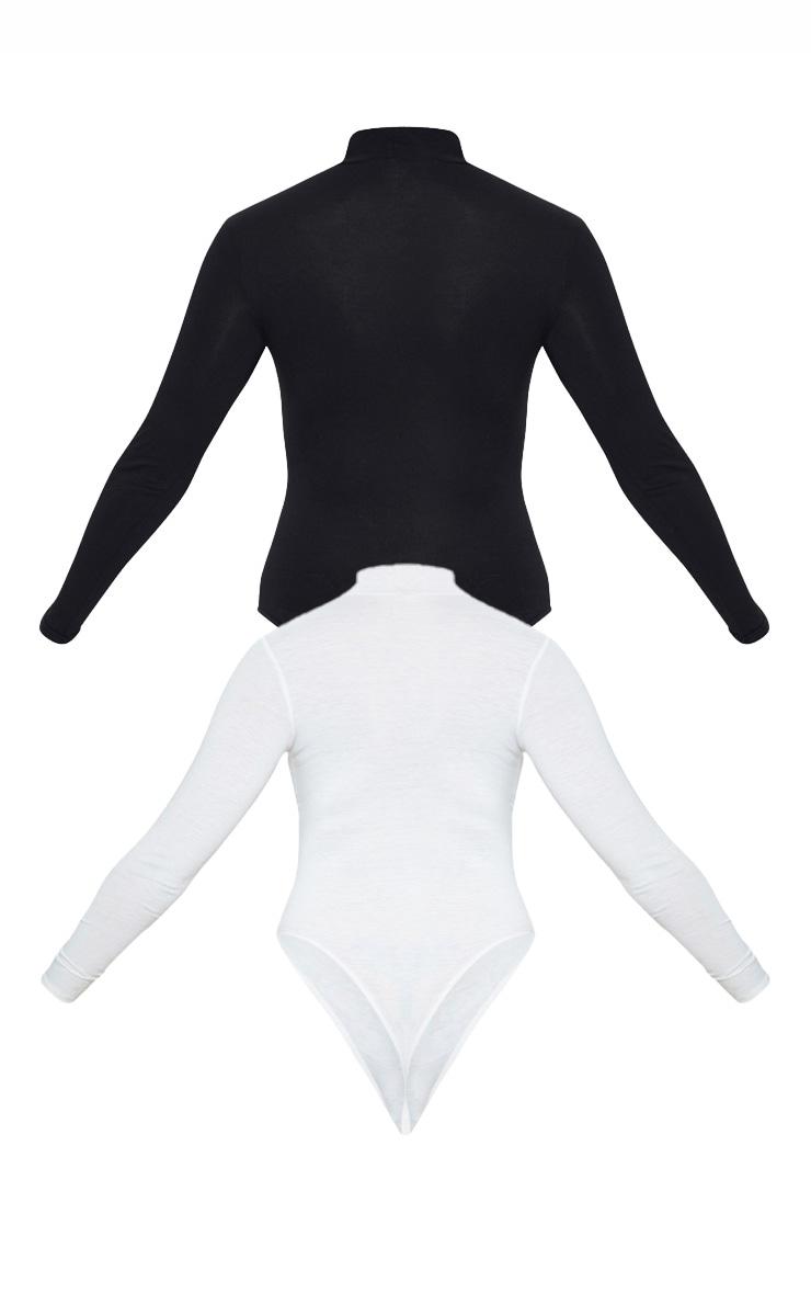 2 Pack Multi Saint & Sinner Slogan High Neck Bodysuit 4