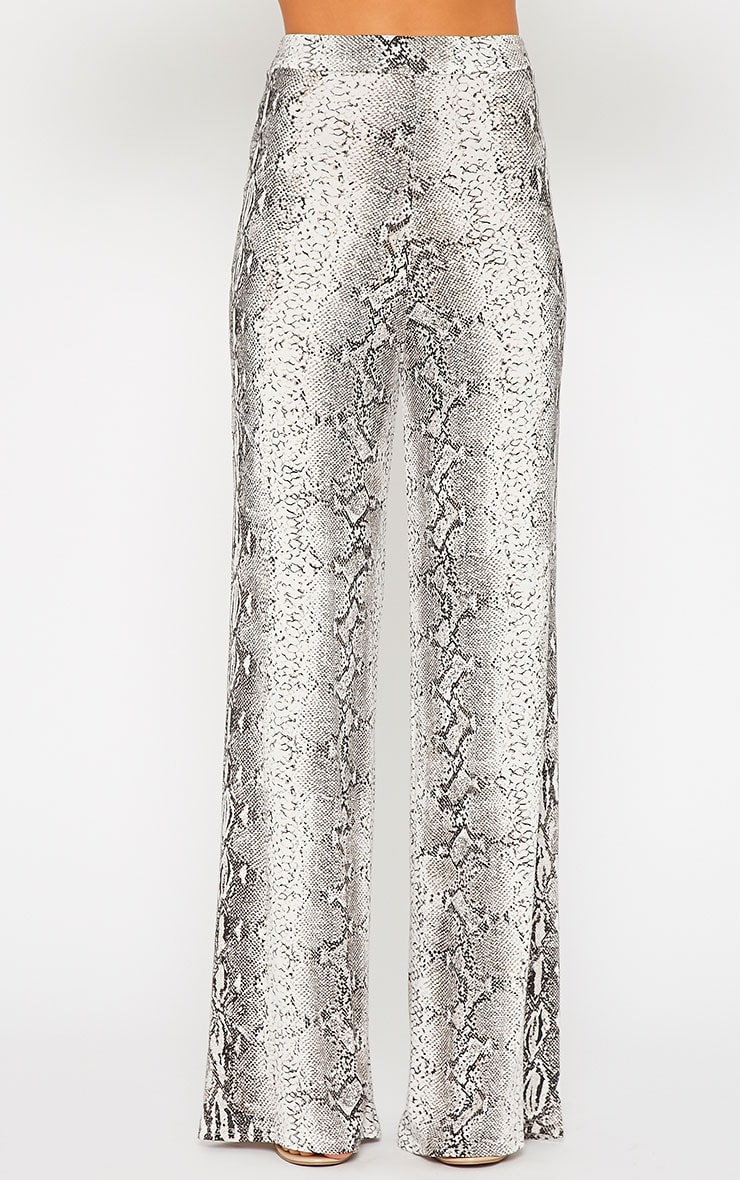 Maude Snake Print Flare Trousers 2