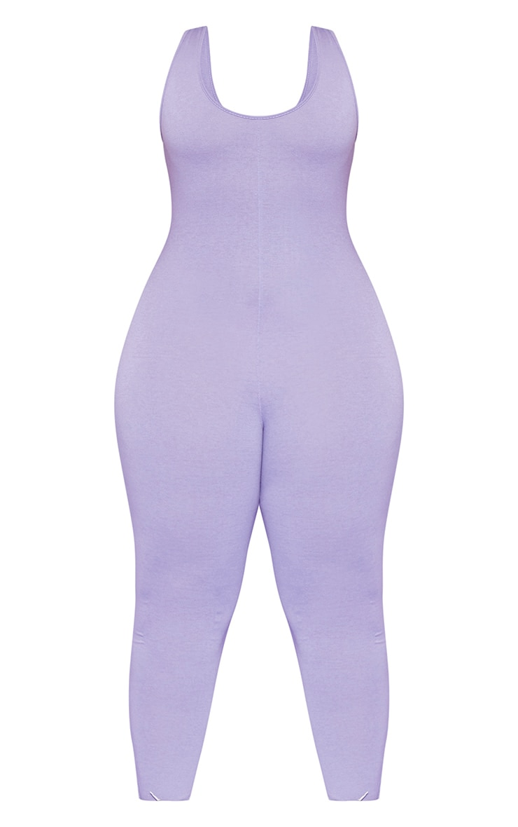 RECYCLED Plus Violet Scoop Neck Jumpsuit 4