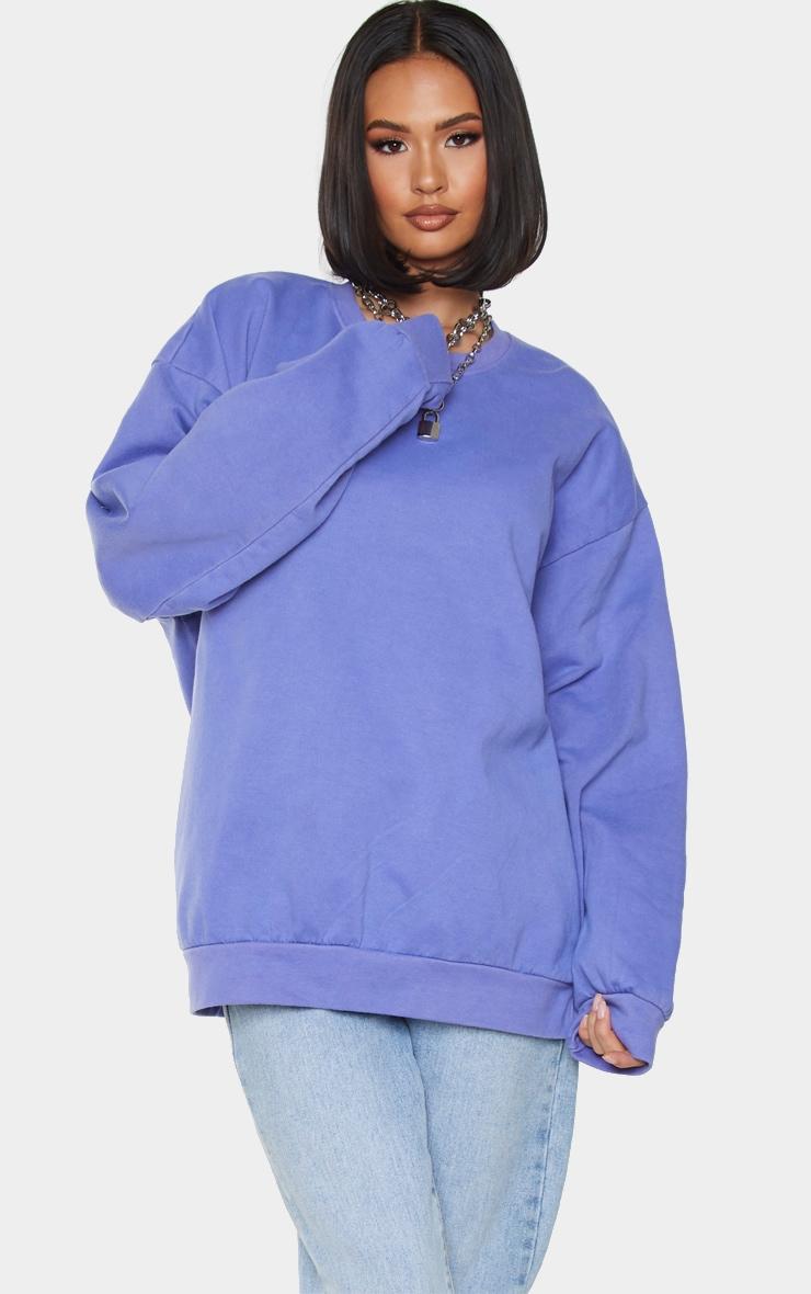 Purple Ultimate Oversized Sweat 1
