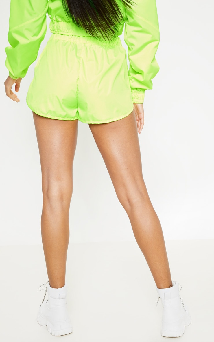 Neon Green Shell Runner Short 4