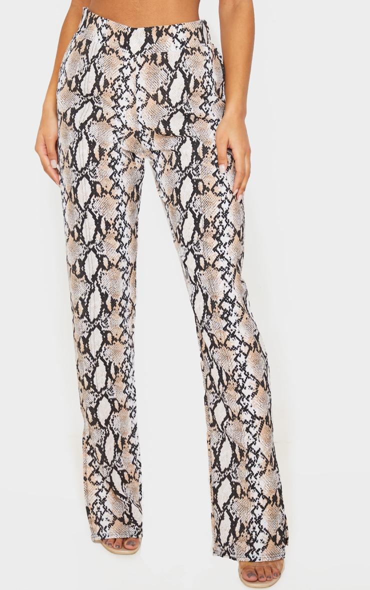 White Snake Straight Leg Split Hem Pants 2