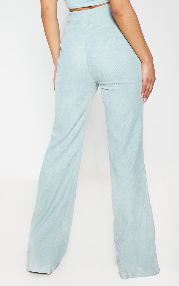 Sage Green Cord Flare Pants 4