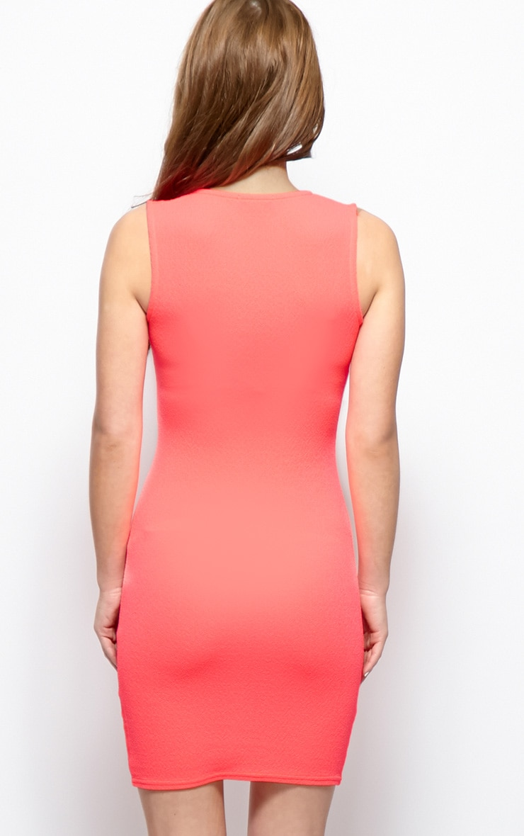 Brooke Pink Plunge V Neck Bodycon Dress 2