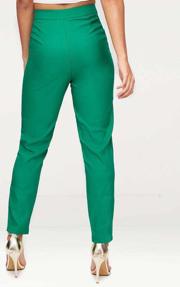 Bright Green Straight Leg Tailored Trouser 4