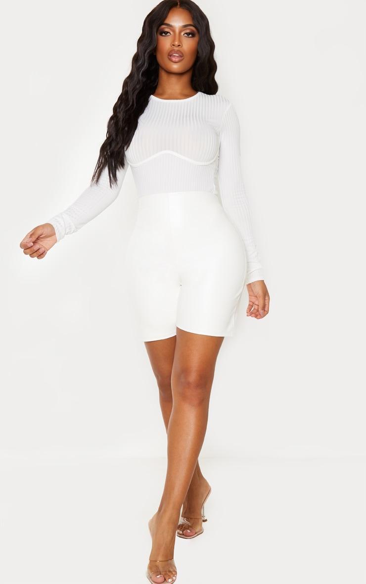 Shape Cream Rib Underbust Detail Bodysuit 5