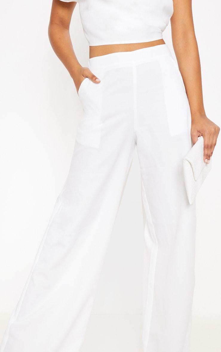 Pantalon ample blanc très évasé 4
