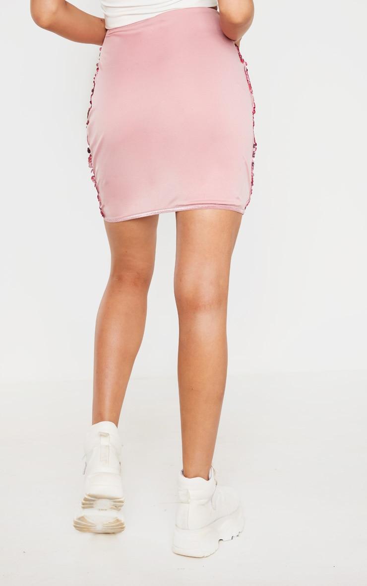 Tall Bright Pink Sequin Skirt 4
