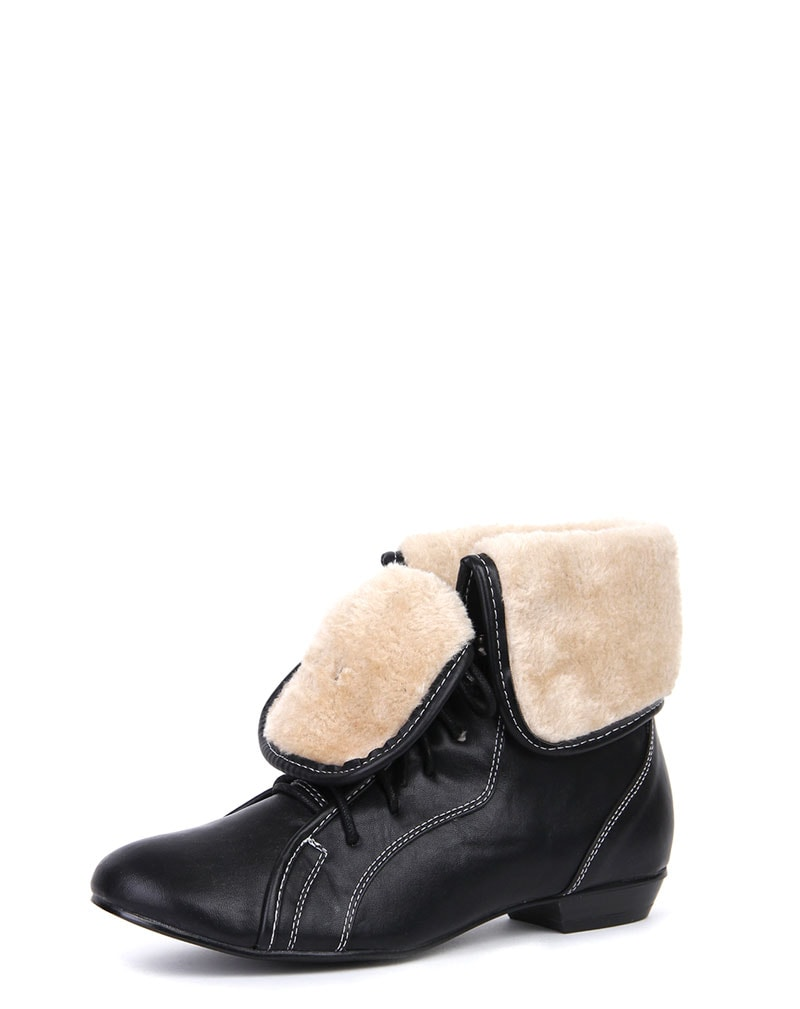 Aila Shearling Lace Up Boots 1