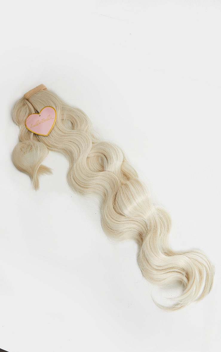 Lullabellz Grande Hollywood Wave 26 Wrap Around Pony Bleach Blonde 3