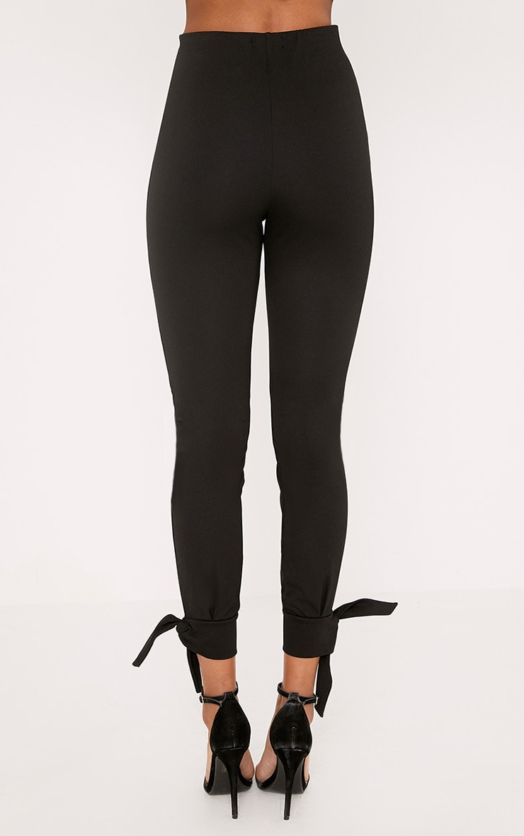 Detta Black Tie Detail Fitted Trousers  4