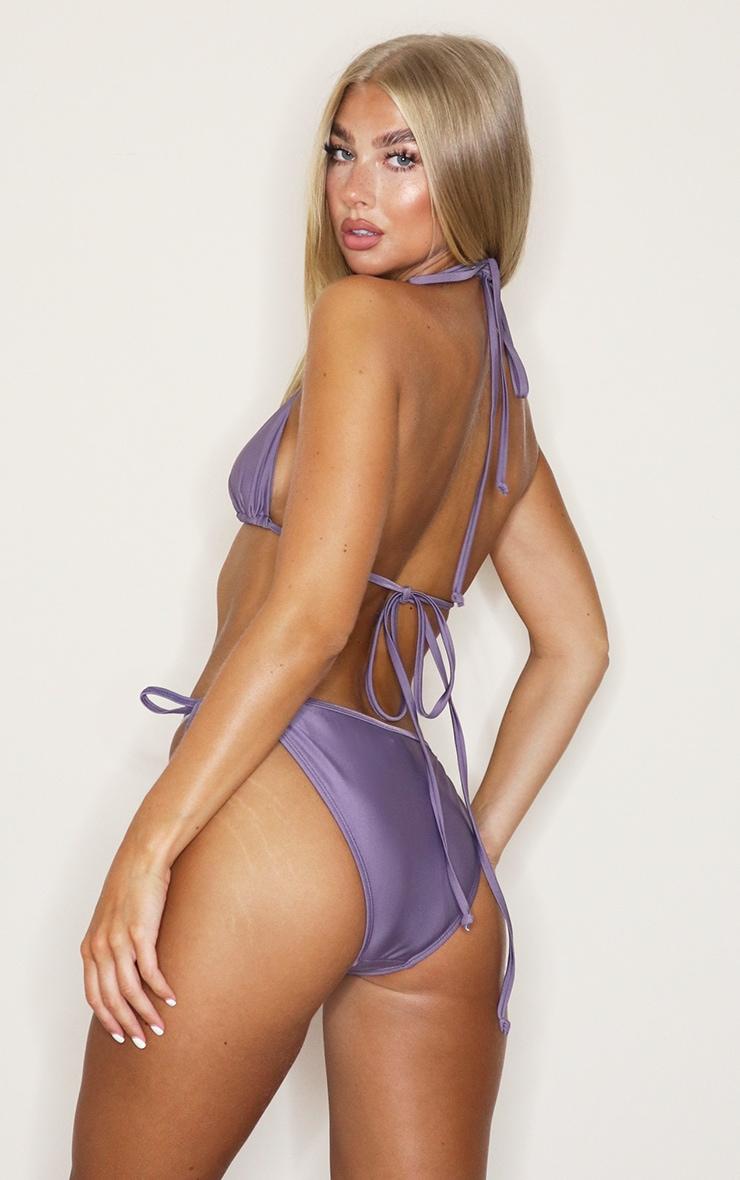 Aubergine Mix & Match Triangle Bikini Top 2