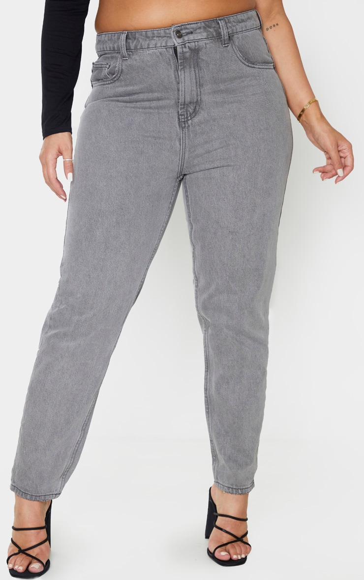 Plus Grey Washed Mom Jean 2