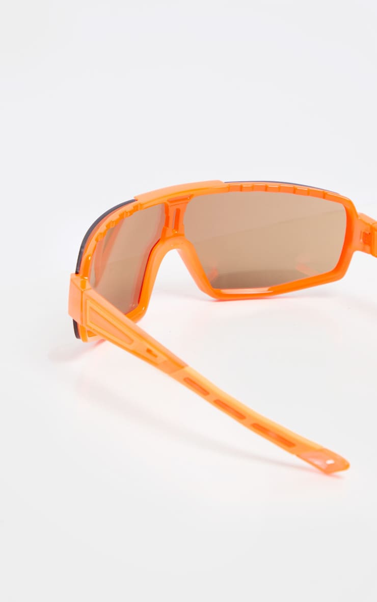 Neon Orange Revo Sports Visor Sunglasses 3