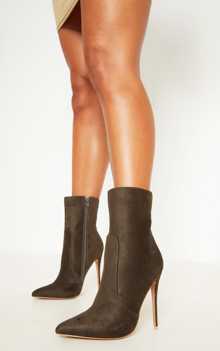 Khaki High Point Ankle Boot  1