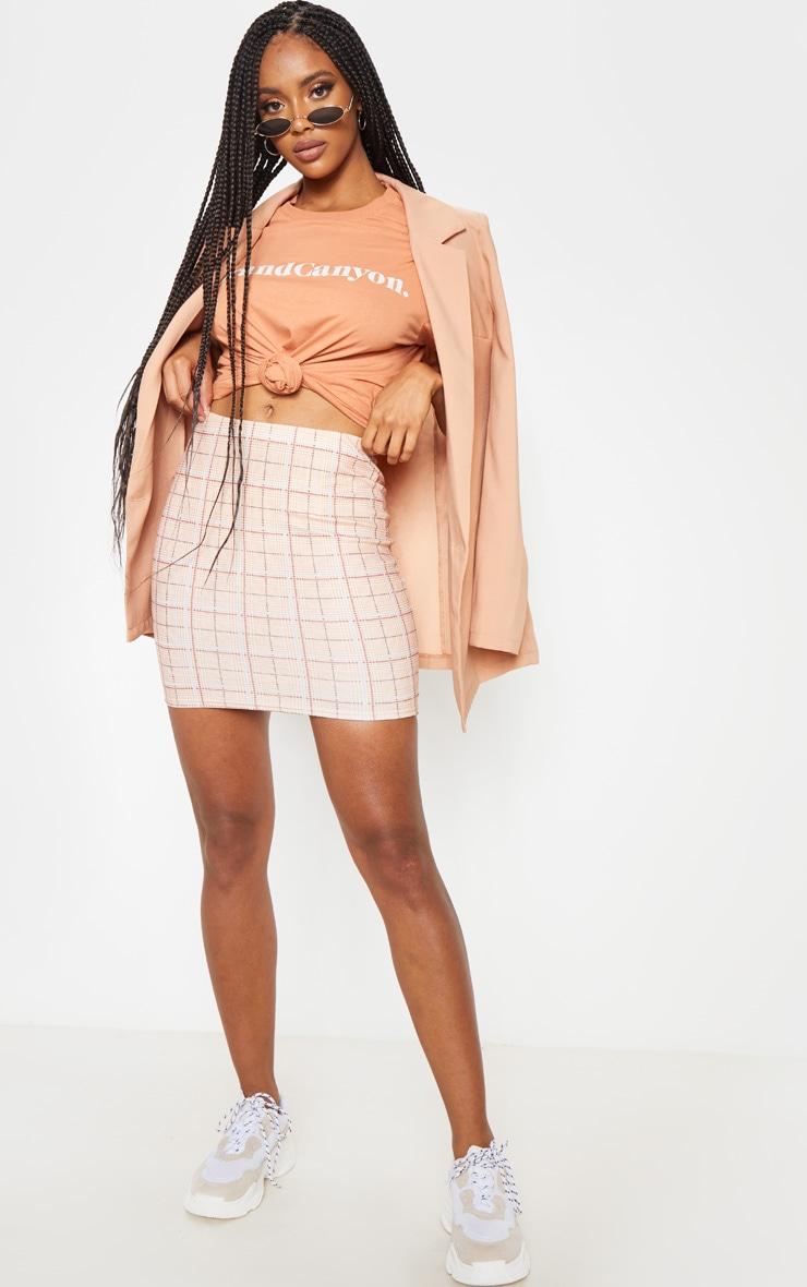 Stone Check Mini Skirt 5