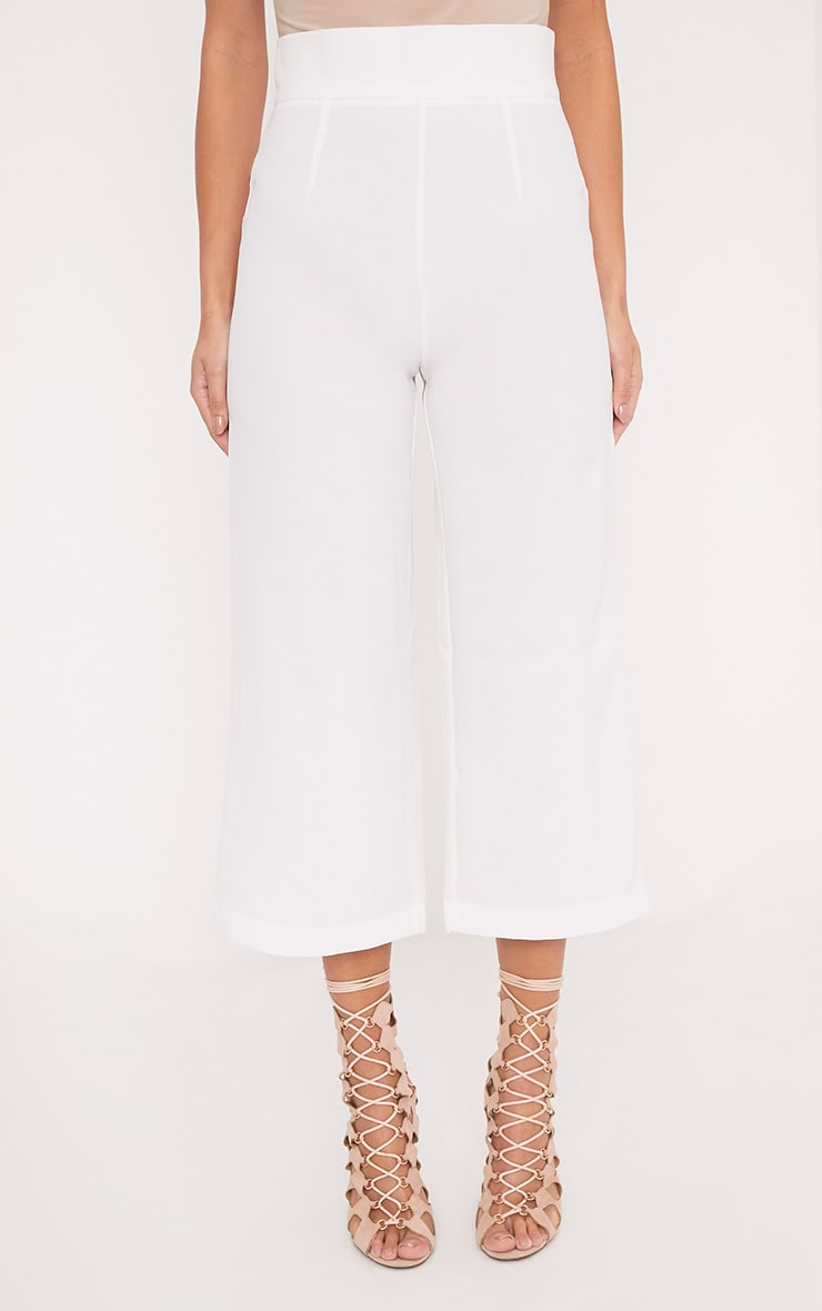 Tazmin White High Waisted Culottes 2