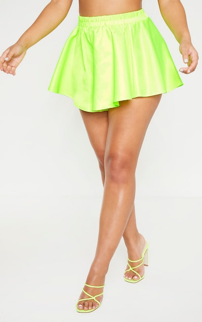 Neon Lime Mix & Match Floaty Shorts
