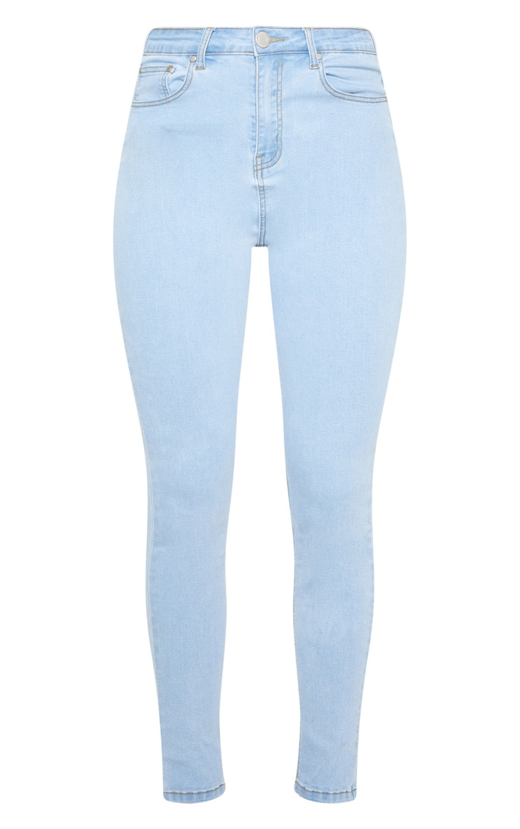 Light Wash High Waist 5 Pocket Skinny Jean  3