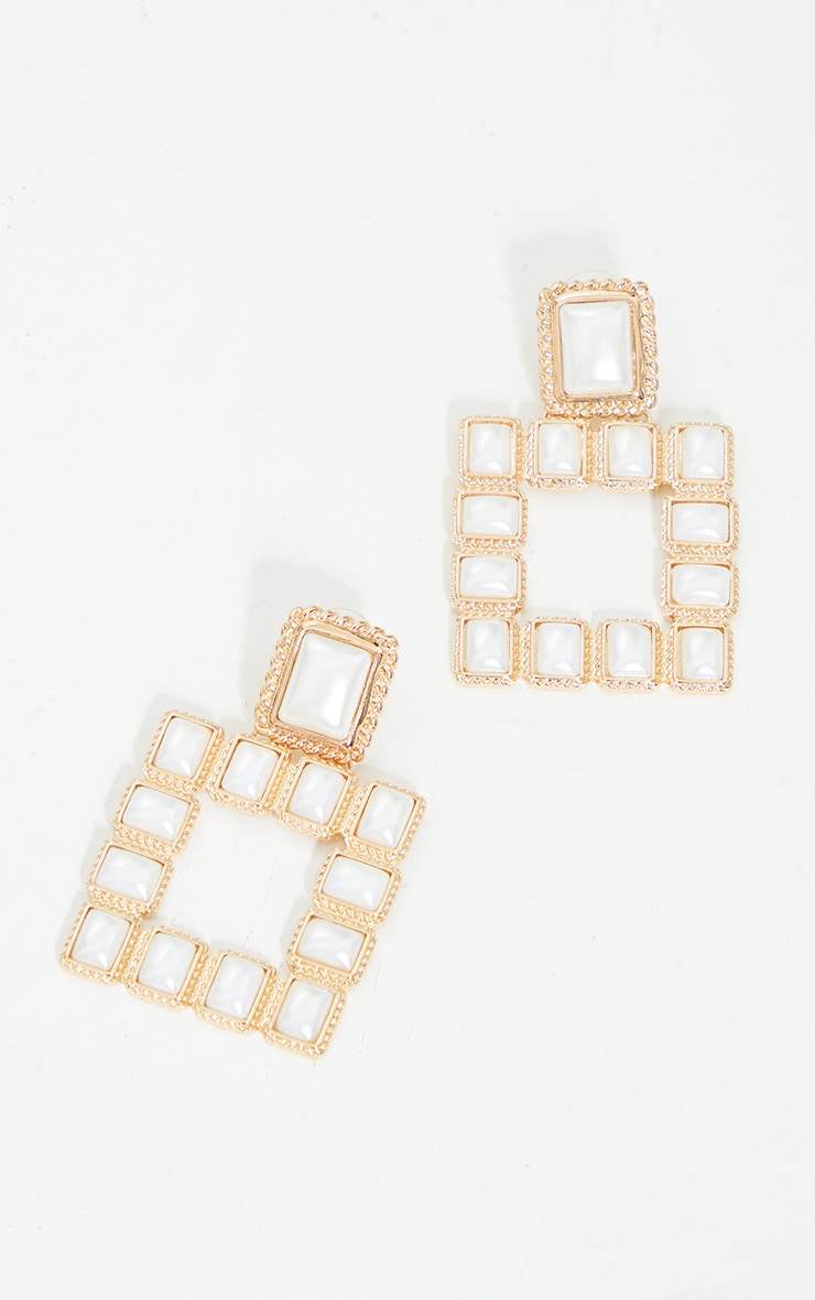 Gold Chunky Pearl Rectangle Door Knockers 3