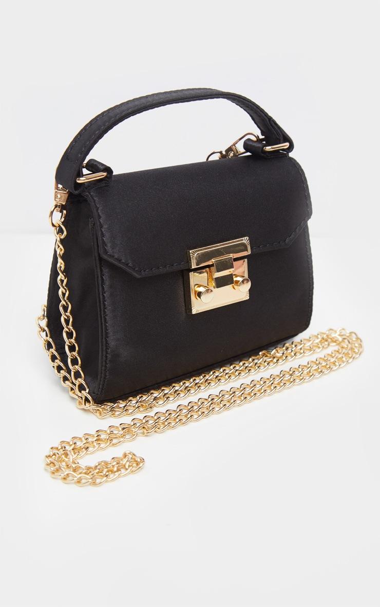 Black Satin Square Mini Bag 3