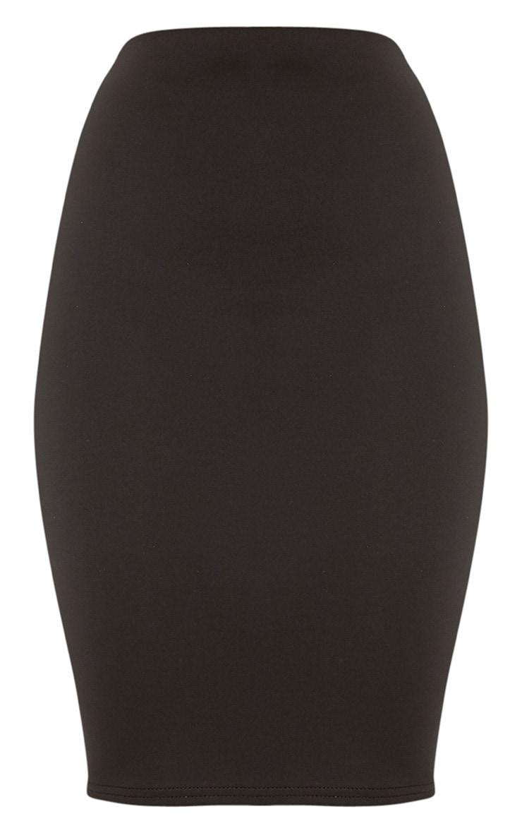 Winnie Black Scuba Midi Skirt 3