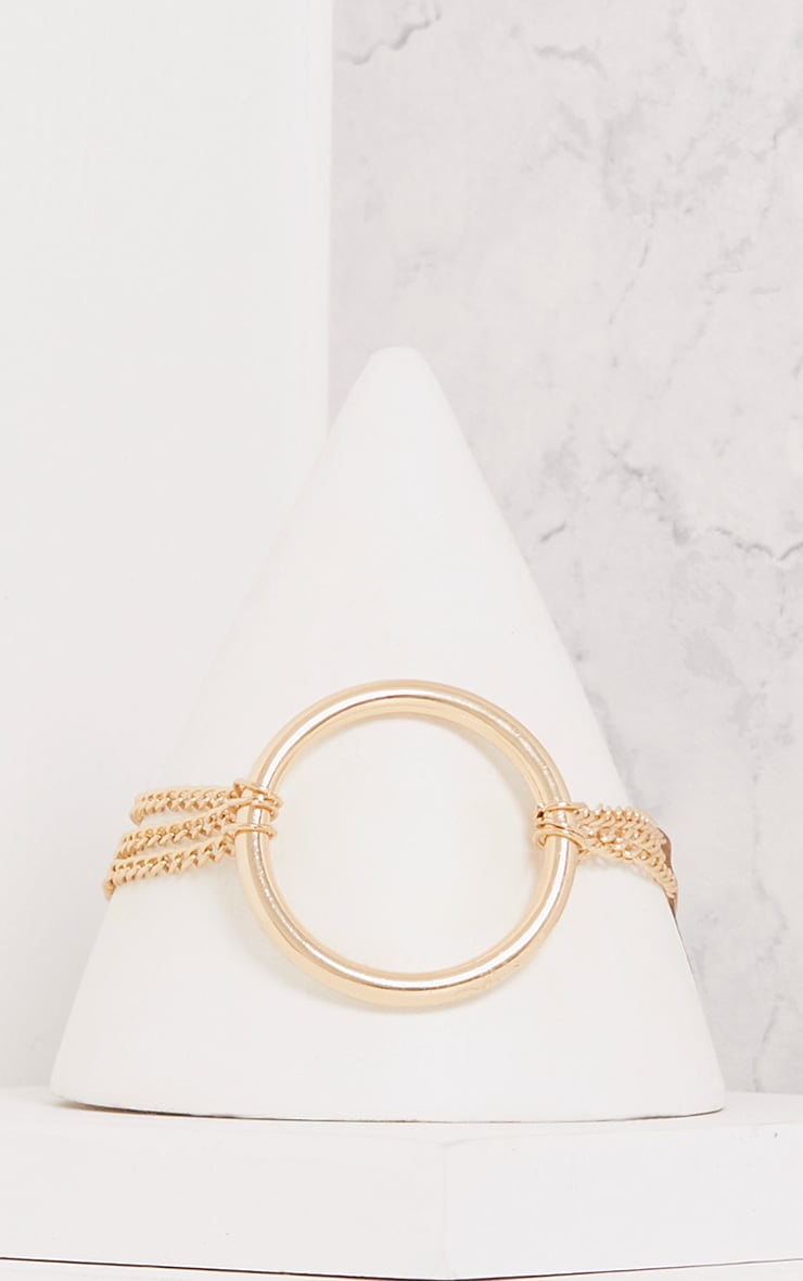 Calie Gold Chain Choker with Ring 2