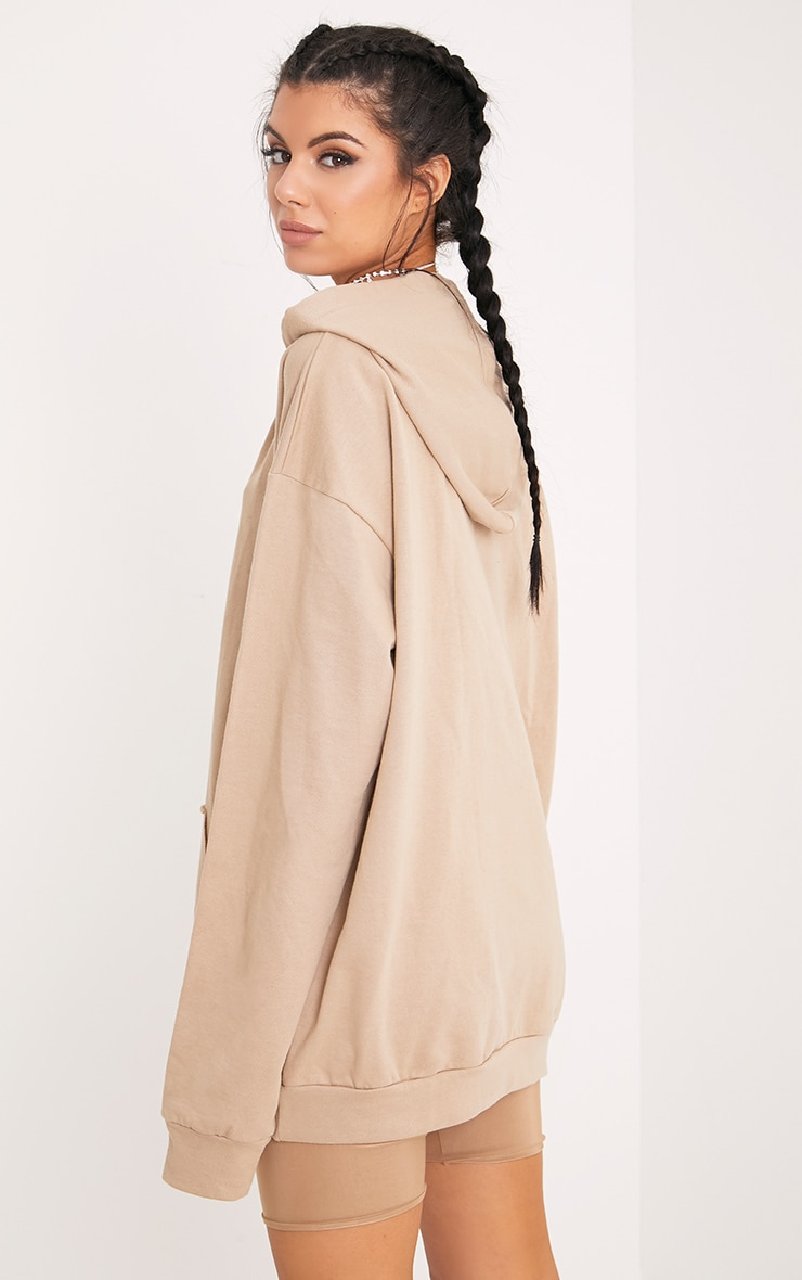 Steph Taupe Oversized Hoodie 2
