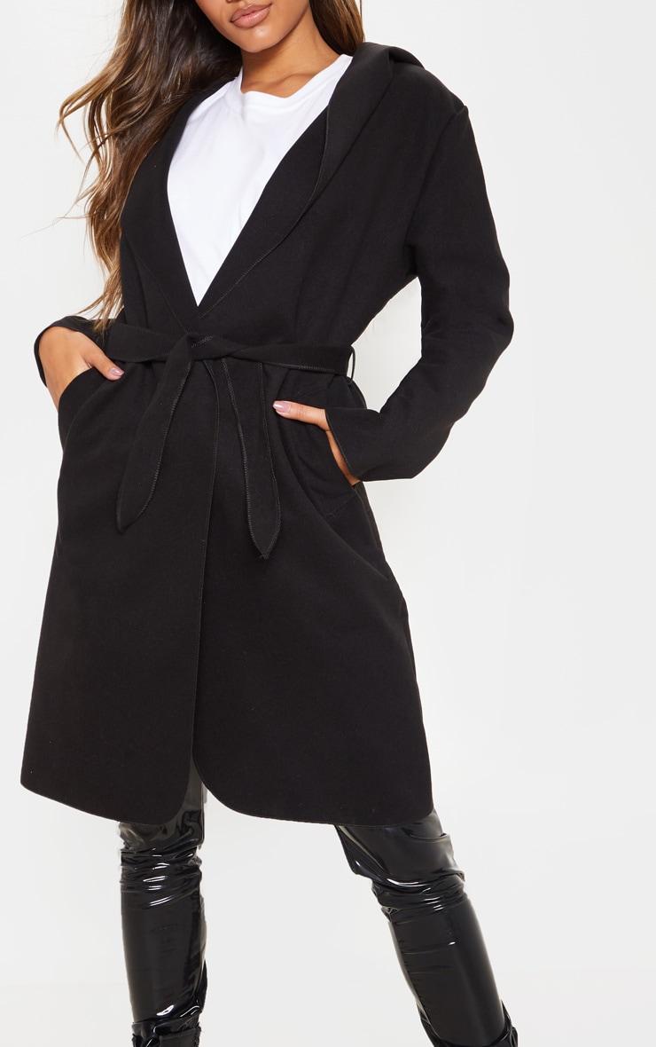 Black Waterfall Hooded Coat 5