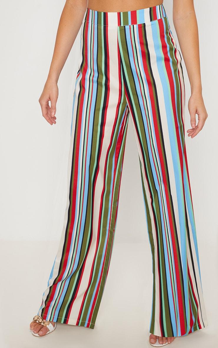 Multi Stripe Wide Leg Trouser 2