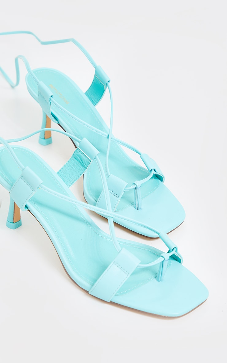 Mint Low Heel Ankle Tie Sandals 2