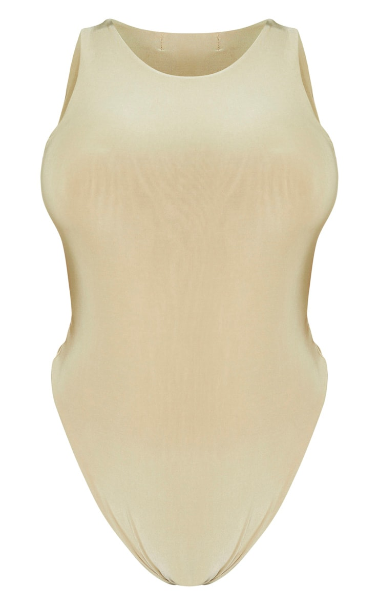 Shape Sage Khaki Sleeveless Slinky Bodysuit 5