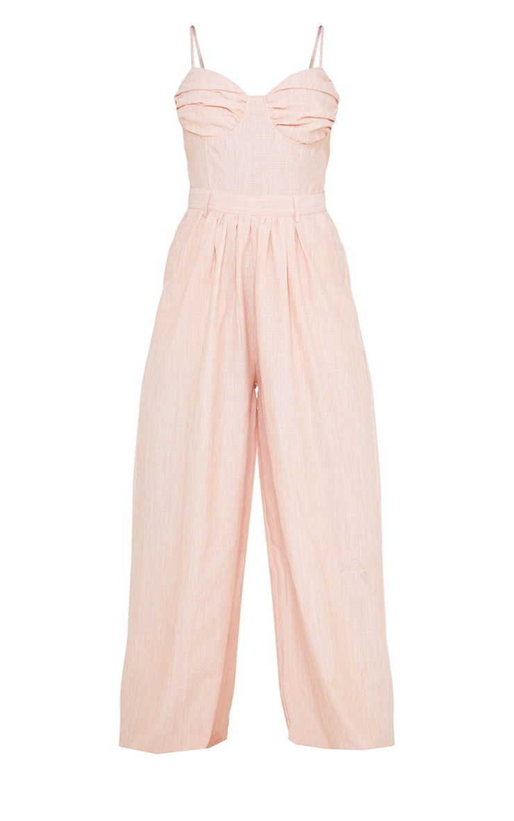 Tangerine Ruched Cup Strappy Wide Leg Jumpsuit 5